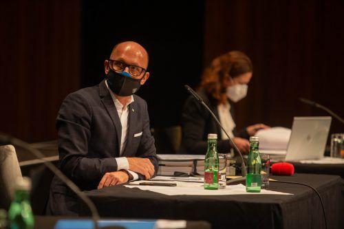 Michael Ritsch als neuer Bregenzer Stadtchef sieht sich mit schweren Vorwürfen der Volkspartei konfrontiert. VN/Hartinger