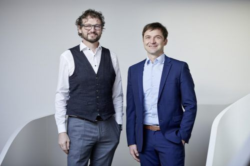 Mositech-Mitgründer und Geschäftsführer Christof Moosbrugger (l.) mit Peter Schoissengeier. mositech
