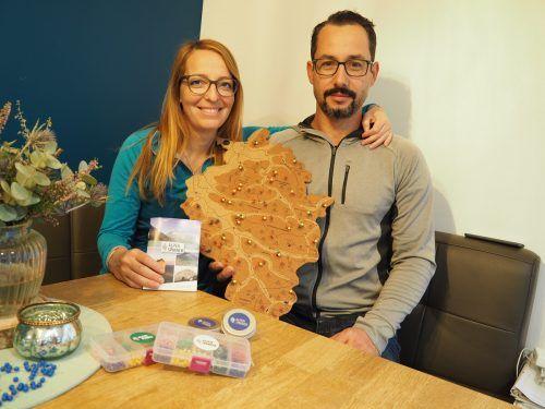 Nach rund zwei Jahren der Entwicklung freuen sich Mario Tischner und seine Frau Sarah nun über den Verkaufsstart des Alpen(s)pinners.Privat