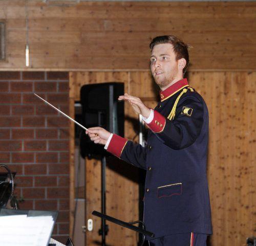 Neuer Bezirkskapellmeister des Blasmusikbezirks Bregenz ist Raphael Keller.