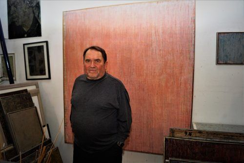 Richard Bösch gibt Einblick in sein Atelier in seinem 200 Jahre alten Haus in Hörbranz.yas/3