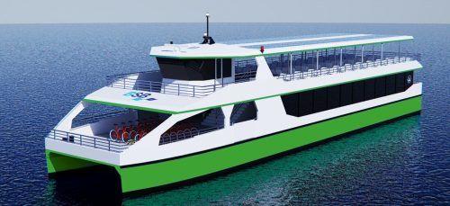 So werden die geplanten elektrisch betriebenen Passagierschiffe der BodenseeSchiffsbetriebe (BSB) aussehen. BSB