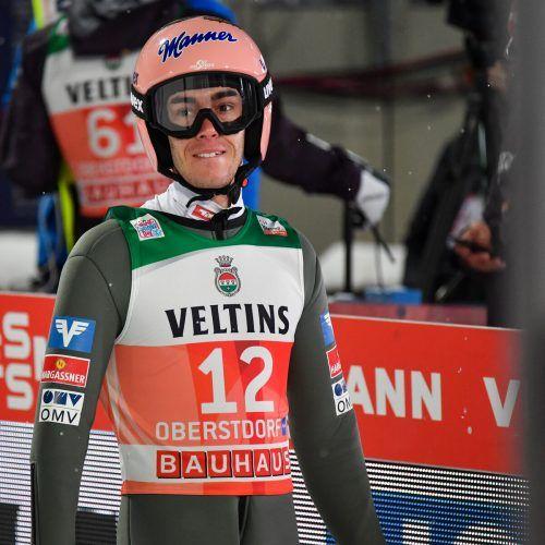 Stefan Kraft hat 17,5 Punkte Rückstand auf Leader Karl Geiger.GEPA