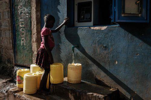 Vor allem Menschen in den ärmeren Regionen der Welt haben keinen Zugang zu sauberem Wasser. afp
