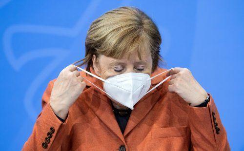 """""""Wir sind zum Handeln gezwungen und handeln jetzt auch"""", bekräftigte Bundeskanzlerin Merkel. AFP"""