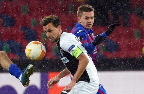 Wolfsberg-Kapitän Michael Liendl spielte in Moskau erneut eine starke Partie.Reuters/2, gepa