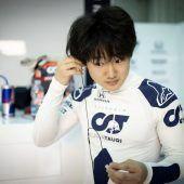 """<p class=""""caption"""">Yuki Tsunoda ist der erste Japaner in einem Formel-1-Boliden seit 2014.Twitter</p>"""
