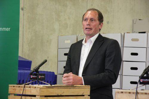 Zog Bilanz über ein schwieriges Jahr: Josef Moosbrugger. VOL.AT