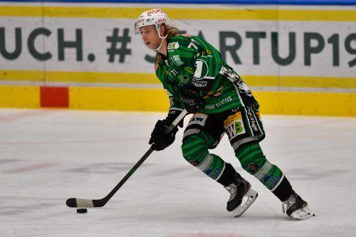 Zwei Tore und ein Assist, Kai Fässler lieferte in Linz ein Drei-Punkte-Spiel ab.lerch