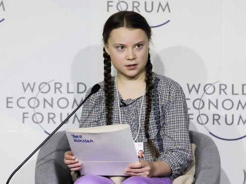 Auf dem Weltwirtschaftsforum 2019 in Davos hatte sich die 16-jährige Greta Thunberg die politische und wirtschaftliche Elite der Welt vorgeknöpft. AP