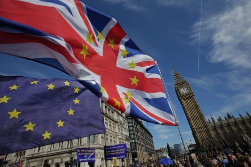 Auf diesem Foto aus dem Jahr 2017 demonstrieren Brexit-Gegner in London gegen den Austritt. AFP