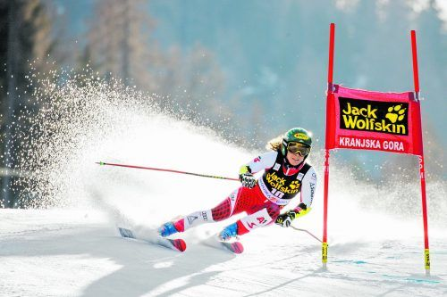 Auf Katharina Liensberger und ihre Kolleginnen warten in Krajska Gora zwei anspruchsvolle Weltcup-Riesentorlaufbewerbe.gepa