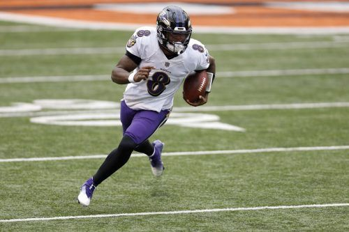 Baltimores Quarterback Lamar Jackson sorgte wieder für einen Rekord.afp