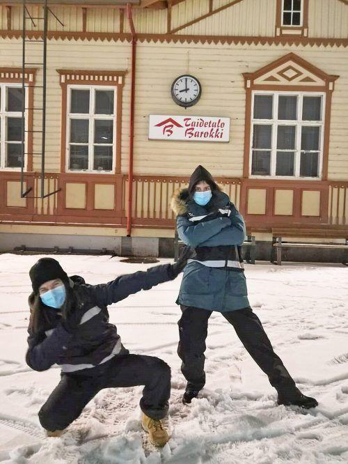 Bei der Online-Infostunde wird Melanie Seewald (l.) live von ihrem ESK-Freiwilligendienst in Finnland berichten.aha/Melanie Seewald
