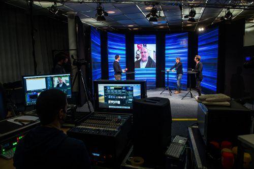 """Bei der Premiere von """"Mixed Zone"""" im Russmedia-Studio waren mit Leo Windtner und Christian Möckel prominente Gäste eingeladen.steurer"""