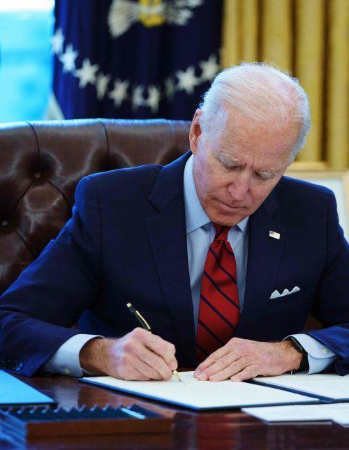 Biden setzte die Vorschrift zu Abtreibung per Dekret außer Kraft. AFP