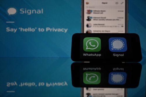WhatsApp ist der meistgenutzte Messenger-Dienst. Herausforderer wie Signal, unterstützt von WhatsApp-Mitgründer Brian Acton, machen diese Position streitig. AFP