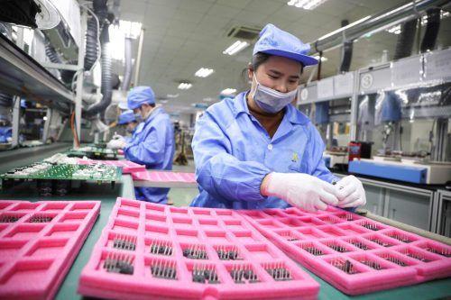 China konnte für 2020 ein Wirtschaftswachstum vermelden.AFP