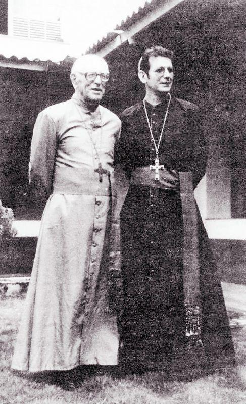 Das Bischofsamt blieb in der Familie: Erwin Kräutler mit seinem Onkel Erich.