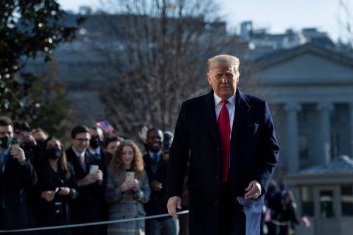Das US-Repräsentantenhaus hat Präsident Donald Trump wegen Anstachelung zum Aufruhr angeklagt. AFP
