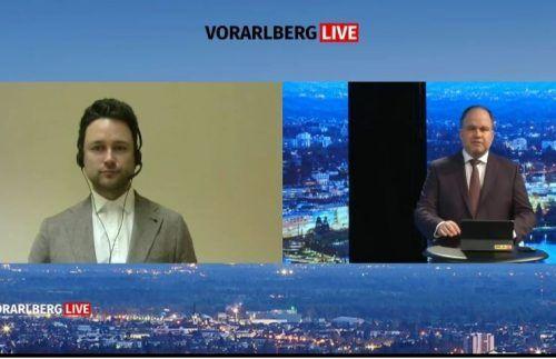 Dejan Jovicevic (der brutkasten) war live zu Gast bei VN-CR Gerold Riedmann.
