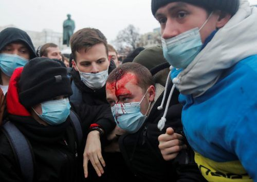 Demonstranten wurde zu tausenden festgenommen.