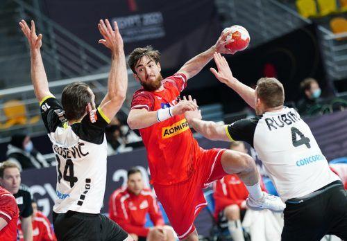 Der Harder Boris Zivkovic erzielte fünf Treffer. ÖHB-Topskorer gegen die Schweiz war Robert Weber mit sieben Treffern.ÖHB/Diener