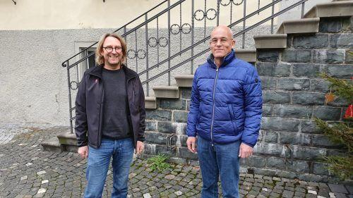 Der neue Bauamtsleiter Bernd Federspiel (links) übernimmt vom in Pension gehenden Markus Heinzle.Stadt