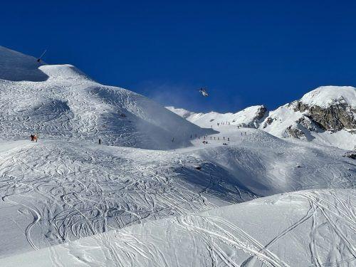 Der verletzte Skifahrer wurde mit dem Hubschrauber ins Spital geflogen. Leserreporter