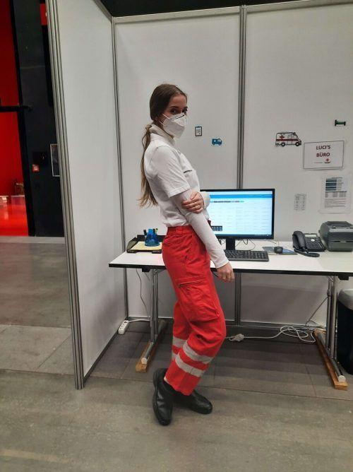 Die 21-jährige Daria Schuricht ist seit November letzten Jahres hauptberuflich beim Roten Kreuz in Dornbirn tätig.RK