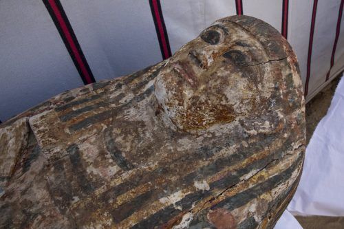 Die archäologischen Funde stammen aus der Zeit des Neuen Reiches. ap