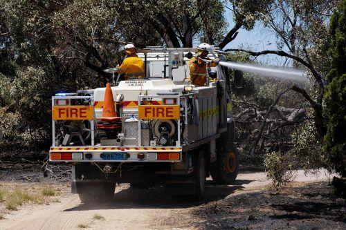 Die Brände zerstörten seit Samstag mehr als 230 Hektar Land. Afp