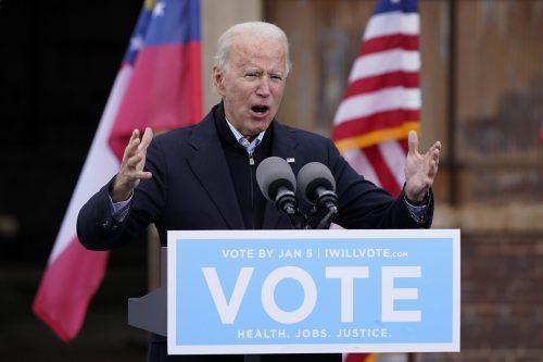Die Georgia-Wahl entscheidet über Bidens Gestaltungsmacht.AP