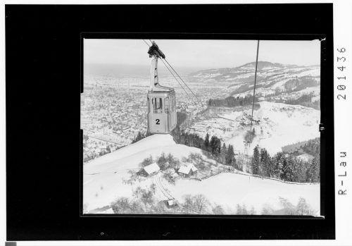 Die Karrenseilbahn im Winter im Jahre 1957.