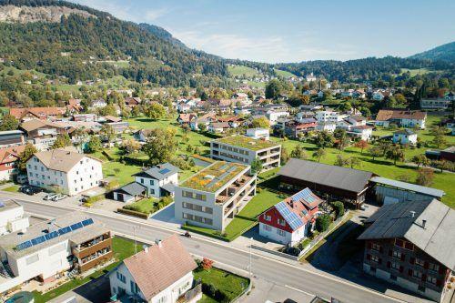 """Die neu konzipierte Wohnanlage """"Benita"""" liegt zentrumsnah und wurde von Architekt Johannes Kaufmann entworfen.Fussenegger Wohnbau"""