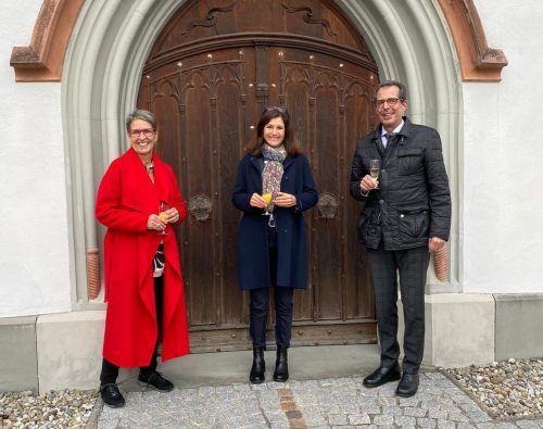 Die neue Direktorin Maria Strolz (Mitte) mit Vorgänger Gebhard Hinteregger.Sacre Coeur