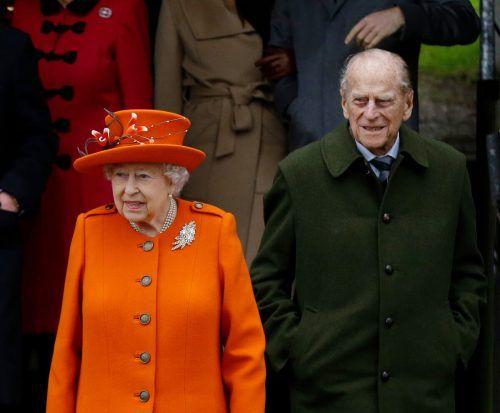 Die Queen und Prinz Philip wurden gegen das Coronavirus geimpft.AP
