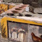 Antike Snackbar in versunkener Stadt Pompeji