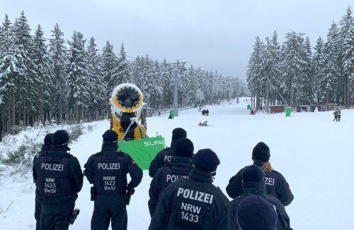 Die Stadt hatte darum gebeten, auf Ski- und Rodelspaß zu verzichten. Reuters