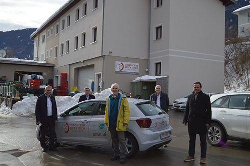 Die Übergabe fand unlängst in Vandans mit allen Partnern statt (v. l.): Robert Sturn, Klaus Himmelreich, Elmar Stüttler, Gerhard Veits (Veits & Wolf) und Gernot Heitzinger (SMN). VLV