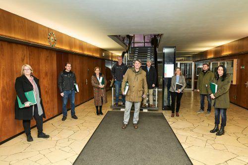 Die Verantwortlichen der Gemeinde Lustenau freuen sich über die Baueingabe und erwarten die Baubewilligung im Sommer.