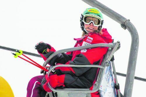Es geht aufwärts für Katharina Liensberger, ein Sieg im Slalom scheint nur mehr eine Frage der Zeit.gepa