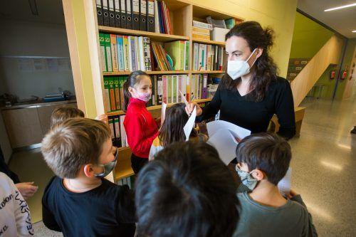 Mund-Nasenschutz sind an den Schulen verpflichtend.VN/Steurer