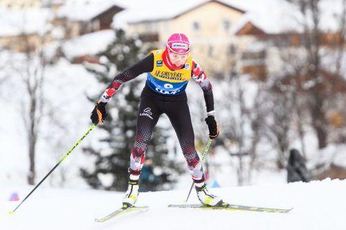 Teresa Stadlober lief in Val di Fiemme zur besten Saisonleistung. gepa