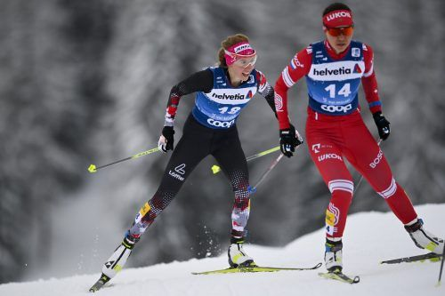 Für Teresa Stadlober (links) lief es am Wochenende nicht nach Wunsch.ap