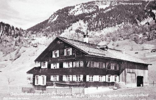 Geburtshaus von Maria Schmid in Au.