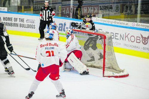 Gustostückerl von Kevin Macierzynski im Spiel gegen Salzburg: Mit diesem Lacrosse-Treffer erzielte er die 2:0-Führung.©CDM/Blende47