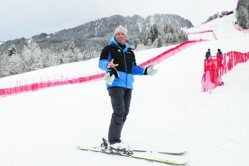 Hannes Trinkl schwingt auf der Streif das Zepter. Der Abfahrts-Weltmeister von 2001 ist seit 2014 Renndirektor für die Speed-Bewerbe, ist u.a. auch für die Kurssetzungen bei den Abfahrten zuständig.gepa