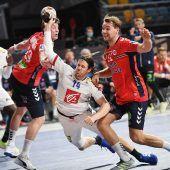 "<p class=""caption"">Im Topduell der Gruppe E setzte sich Rekordweltmeister Frankreich (im Bild Kentin Mahe) gegen 2019-Vizeweltmeister Norwegen mit 28:24 (13:13) durch.Reuters</p>"