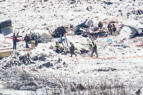 In den Trümmern des Erdrutsches ist ein Hund lebend gefunden worden. Reuters